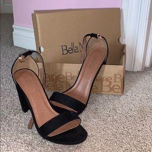 Bella Marie black suede heels size 10